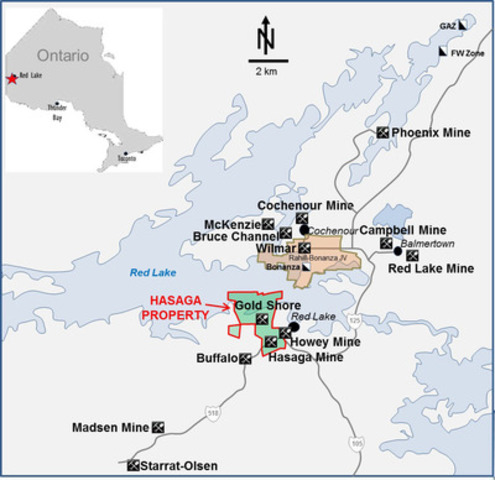 Figure 1 - Hasaga Red Lake Property Location Map (CNW Group/Premier Gold Mines Limited)