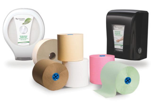 Distributrices de papiers essuie-mains et hygiénique Tandem+ (Groupe CNW/Cascades Inc.)