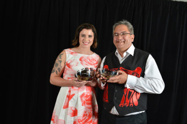 Nikki Wiart and Wawmeesh G. Hamilton were the recipients of last year's CJF Aboriginal Journalism Fellowships, which allows two Aboriginal journalists to to explore issues of interest to First Nations, Métis or Inuit peoples while working with CBC News in Winnipeg. (CNW Group/Canadian Journalism Foundation)