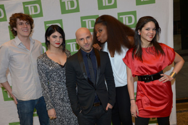 """Musical artists Jully Black, Karl Wolf, Devin Cuddy, KAI and Eva Avila performed at TD's """"For the Love of Music"""" Valentine's Day concert event celebrating10 years of TD Music (CNW Group/TD Bank Group)"""