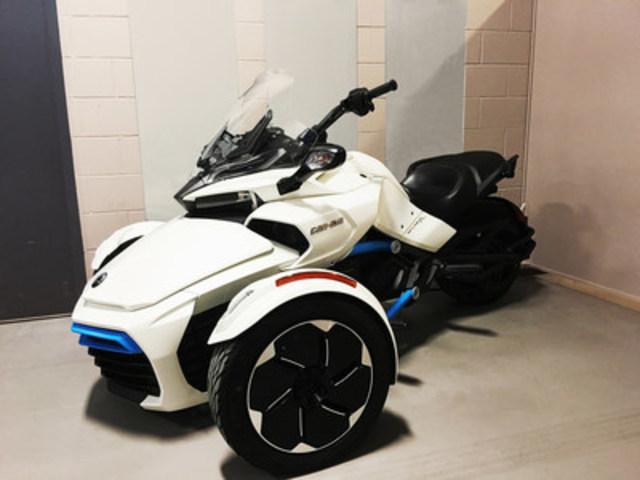 The Centre de technologies avancées BRP – Université de Sherbrooke (CTA) presents its Can-Am Spyder electric concept vehicle. (CNW Group/Centre de technologies avancées BRP-Université de Sherbrooke)