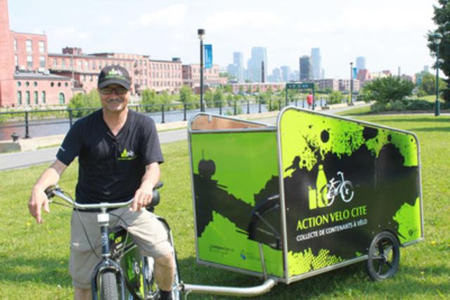 CONSIGNaction : un an de réinsertion sociale et de récupération avec Action Vélo Cité. Marcel, un Cyclorécupérateur. (Groupe CNW/Boissons Gazeuses Environnement (BGE))