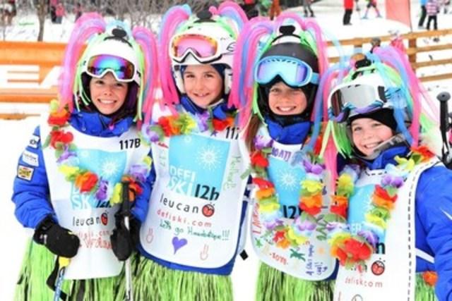Participantes du Défi ski 12 h Leucan 2015 (Groupe CNW/Leucan)