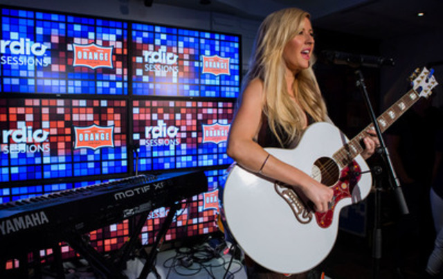 Ellie Goulding performs a private session at Rdio House, celebrating the announcement of Rdio Sessions Live @ The Orange Lounge. Rdio is the official music partner of TIFF. (CNW Group/Rdio)