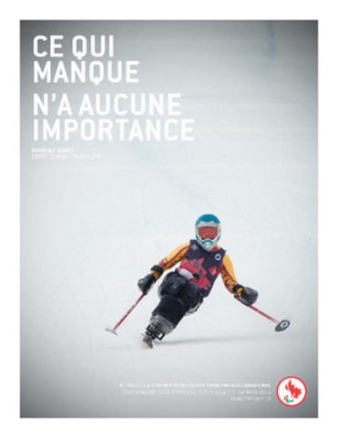 Sit-skier Kimberly Joines (Rossland B.C.) is featured in the Canadian Paralympic Committee's new Sochi 2014 campaign to build hype around the Games. (CNW Group/Canadian Paralympic Committee (CPC))