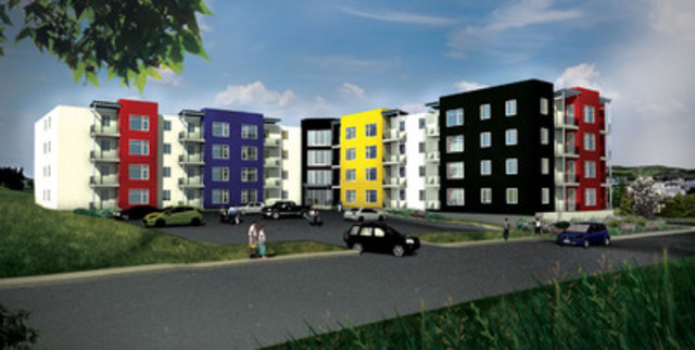 Killam Properties Inc expects to begin construction of Bennett House, a 71-unit apartment building to be located at 66 Churchill Avenue in the Pleasantville area of St. John's, Newfoundland, in December 2011. (CNW Group/KILLAM PROPERTIES INC.)