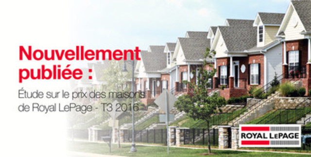 Gatineau : Le marché immobilier se maintient au troisième trimestre avec une hausse modérée de 3,3 pour cent du prix médian (Groupe CNW/Services immobiliers Royal LePage)