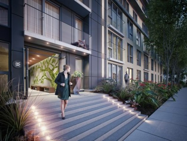 Elements Condominiums will be located in the booming heart of Griffintown, at the intersection of three storied streets: de la Montagne, du Séminaire, and Basin. (CNW Group/Devimco Immobilier)