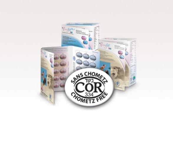 PregVit® and PregVit folic 5® Canadian prenatal multivitamins certified Kosher and Chometz free (CNW Group/Duchesnay inc.)