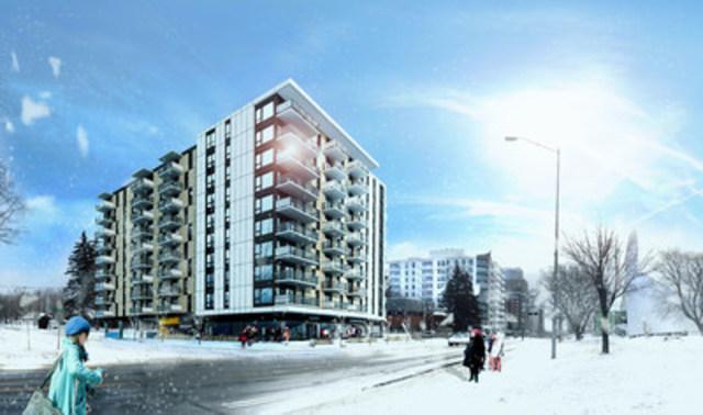 Le Fonds immobilier de solidarité FTQ s'associe au nouveau projet résidentiel locatif Campari à Sainte-Foy (Groupe CNW/Fonds immobilier de solidarité FTQ)
