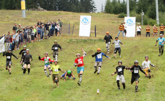 More than 160 ambitious competitors took part in the sixth edition of the Canadian Cheese Rolling Festival, hosted by Dairy Farmers of Canada. Visit www.CanadianCheeseRolling.ca for more information. (CNW Group/Dairy Farmers of Canada (DFC))