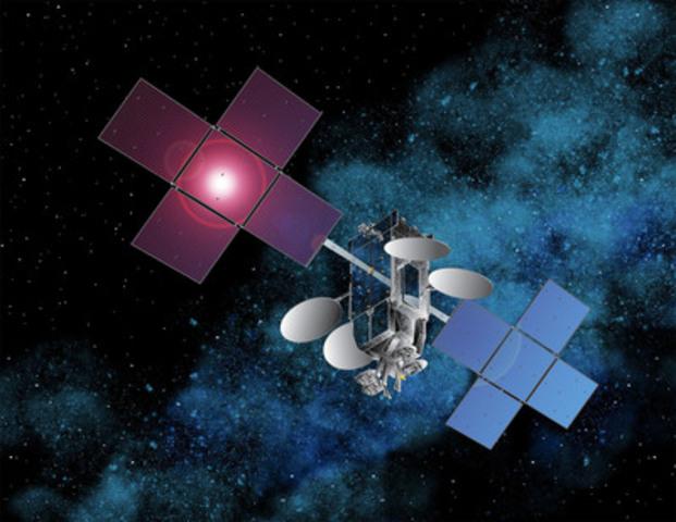 Une reproduction d'artiste d'EchoStar XVII, le nouveau satellite à haut débit qui sera utilisé par Xplornet. Gracieuseté de Space Systems/Loral (Groupe CNW/Xplornet Communications inc.)