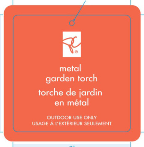 TeraGear Metal Garden Torch & PC Metal Garden Torch - UPC 0 58703 04799 (CNW Group/Loblaw Companies Limited)