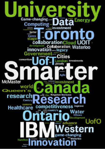 The Governments of Canada and Ontario, with IBM, the University of Toronto and Western University will collaborate to establish a new Ontario-based $210 million dollar research and development initiative, including the formation of the IBM Canada Research and Development Centre (CNW Group/IBM Canada Ltd.)