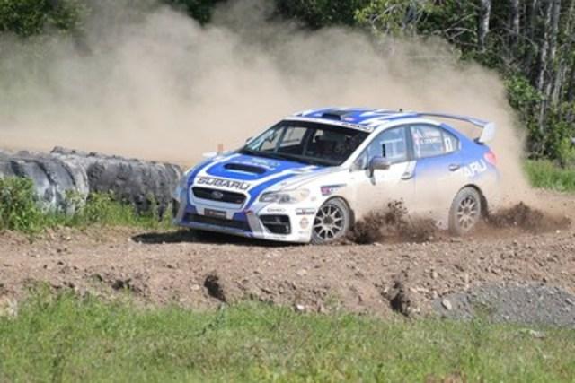 L'équipe canadienne des rallyes Subaru remporte les étapes difficiles du Rallye Baie-des-Chaleurs. ©Droits d'auteur 2015 Rocket Rally Racing par Phil Ericksen. (Groupe CNW/Subaru Canada Inc.)