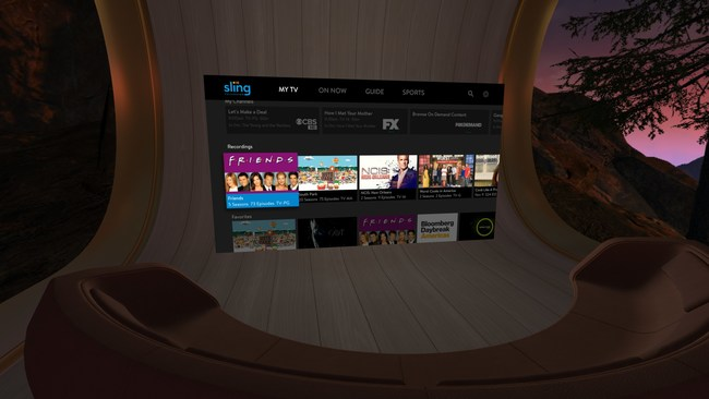Sling TV became the first virtual multichannel video programming distributor (vMVPD) to launch on Oculus Go, the all-in-one wireless virtual reality (VR) headset