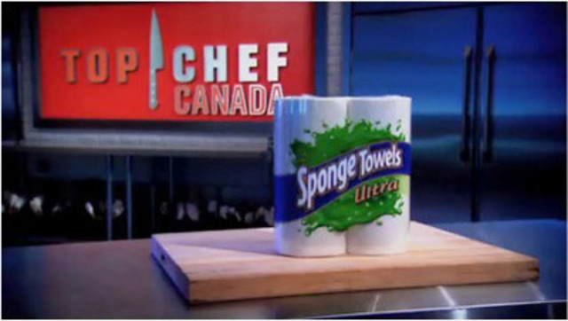 Top Chef Canada's most extreme season premieres on Food Network Canada on March 10 and for the fourth consecutive season, SpongeTowels is the official paper towel, awarding Canada's Top Chef with $100,000. (CNW Group/Kruger Products L.P.)
