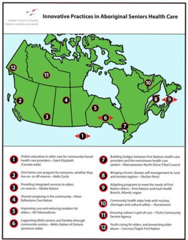 Pratiques novatrices en matiere de soins de santé des Autochthones aînés (Groupe CNW/Conseil Canadien de la Santé)