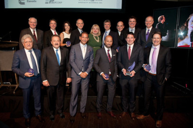 Finalists of the 2015 Private Business Growth Award: Baby Gourmet; Cooke Aquaculture; dentalcorp; Fiera Foods Company; Global Relay; Kids & Company; Medgate Inc.; Nicola Wealth Management; Skyline Group of Companies and StarTech.com (CNW Group/Grant Thornton LLP)