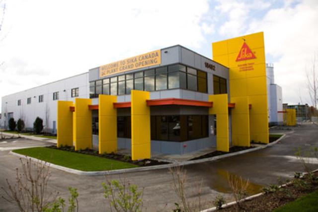 Photo no. 2539: Façade de la nouvelle usine (Groupe CNW/Sika Canada Inc)