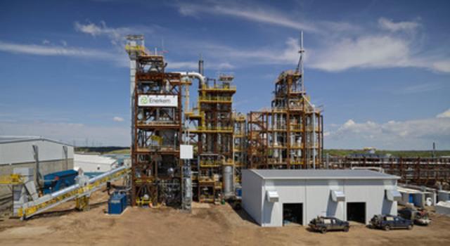 Usine d'Enerkem nouvellement inaugurée à Edmonton en Alberta qui produira des biocarburants et produits chimiques renouvelables à partir de matières résiduelles. (Groupe CNW/ENERKEM INC.)