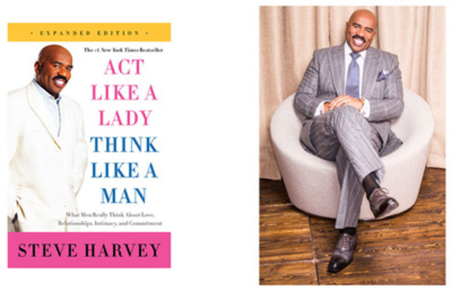The #1 New York Times bestseller from the new guru of relationship advice, Steve Harvey's Act Like a Lady, Think Like a Man is an invaluable self-help book priming women on how to better understand men. (CNW Group/Nexx Wave)