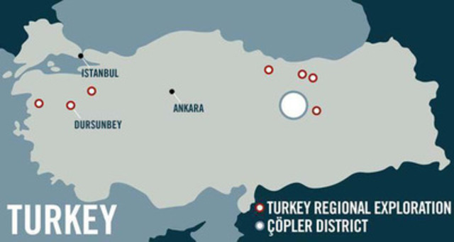 Figure 1: Dursunbey Location Map (CNW Group/Alacer Gold Corp.)