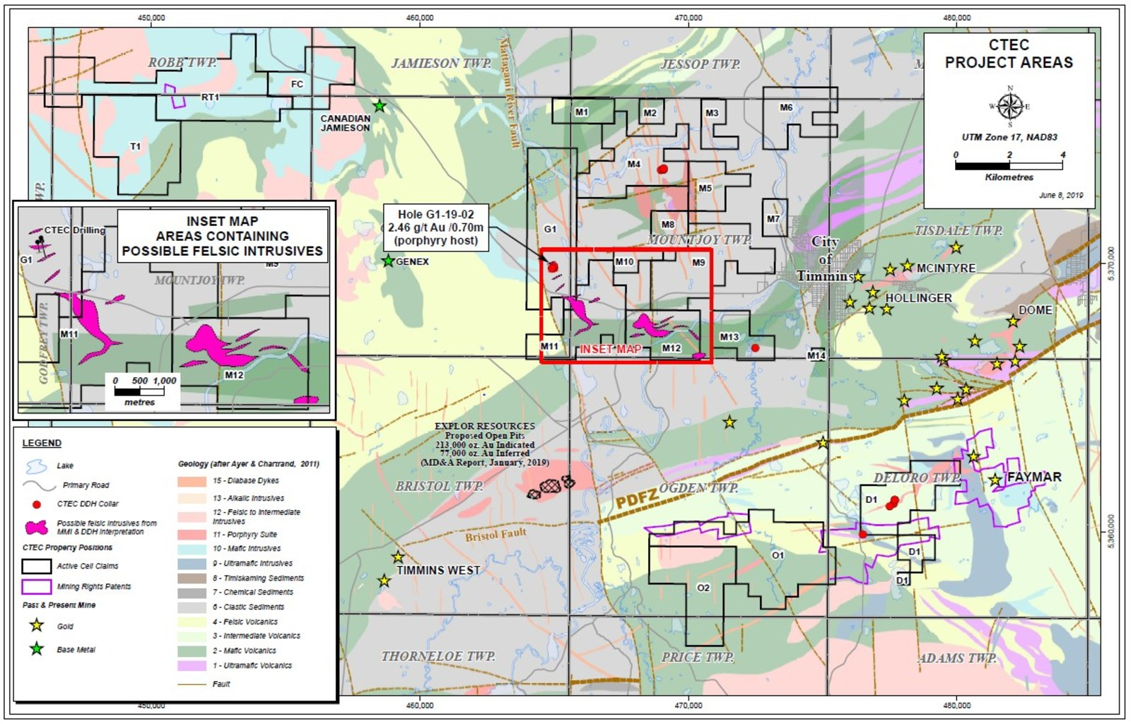 CTEC Project Location and Geology Map