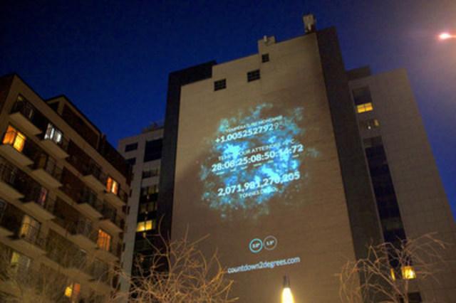 Compte à rebours vers 2°C : Lancement de l'horloge climatique & foire communautaire du Jour de la Terre à l'Université Concordia, Montréal, QC (Groupe CNW/Concordia Student Union)