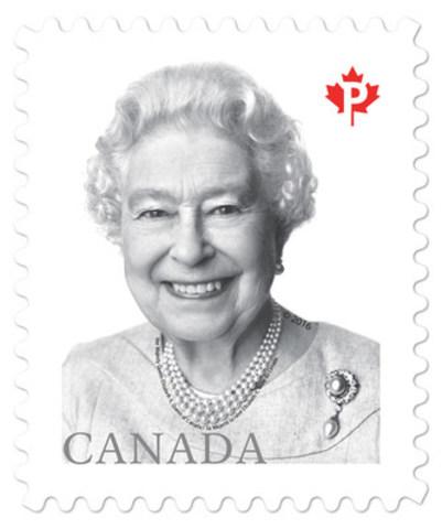 Aujourd'hui, Postes Canada a émis un nouveau timbre comportant un célèbre portrait récent de la reine Elizabeth II. (Groupe CNW/Postes Canada)