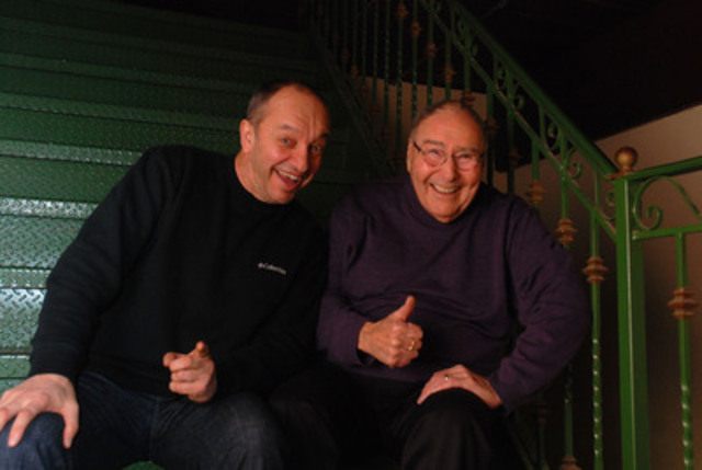 Les deux parrains d'honneur du 18e Radio-don de Radio Ville-Marie, Marcel Leboeuf et Jean-Marc Chaput (Groupe CNW/Radio Ville-Marie (CIRA-FM))