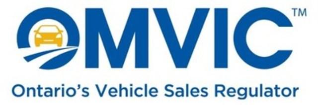 OMVIC - Ontario's vehicle sales regulator (CNW Group/Ontario Motor Vehicle Industry Council (OMVIC))