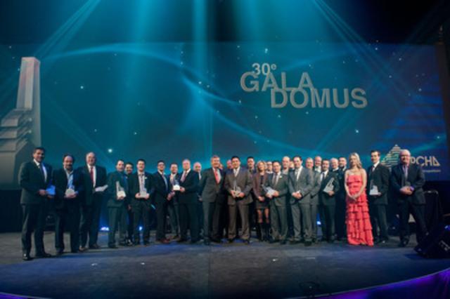C'est le 9 février dernier que l'APCHQ - région du Montréal métropolitain remettait ses 18 prix Domus aux entreprises qui se sont distinguées par l'excellence de leur travail. Passion, innovation, persévérance et force sont autant de synonyme pour définir le travail des lauréats des Prix Domus. (Groupe CNW/APCHQ Région du Montréal métropolitain)