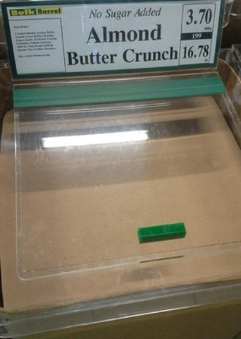 « No Sugar Added Almond Butter Crunch » (Groupe CNW/Agence canadienne d'inspection des aliments)