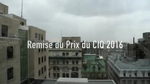 Vidéo : Le CIQ remet son Prix annuel en présence de la ministre de la Justice