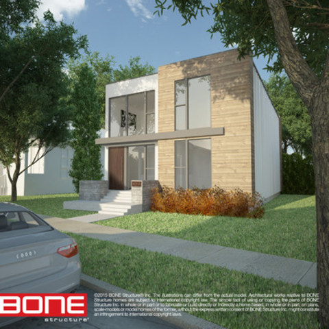 Aspect Home Builders is currently assembling the First BONE Structure in Saskatoon (CNW Group/BONE Structure)