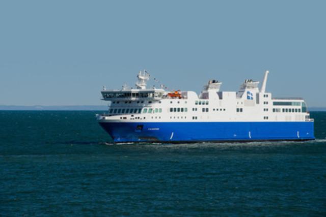 The MV F.-A.-Gauthier will serve the Matane?Baie-Comeau?Godbout Ferry Route starting summer 2015 (CNW Group/Société des traversiers du Québec)