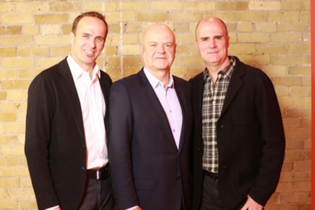 Andrew Bruce, Yves Gougoux et Duncan Bruce (Groupe CNW/Publicis Canada)