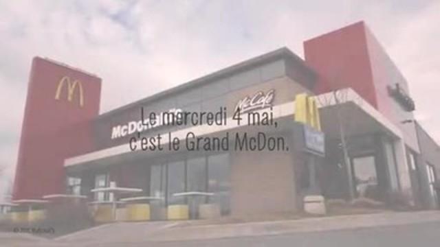 Vidéo : Les Canadiens découvrent quelles sont les familles qui bénéficient de leur générosité à l'occasion du Grand McDon, le mercredi 4 mai, où 1 $ sur la vente de tous les sandwichs Big Mac, repas Joyeux festin et boissons McCafé chaudes sera versé aux 14 Manoirs Ronald McDonald et à d'autres organismes de bienfaisance pour enfants locaux.