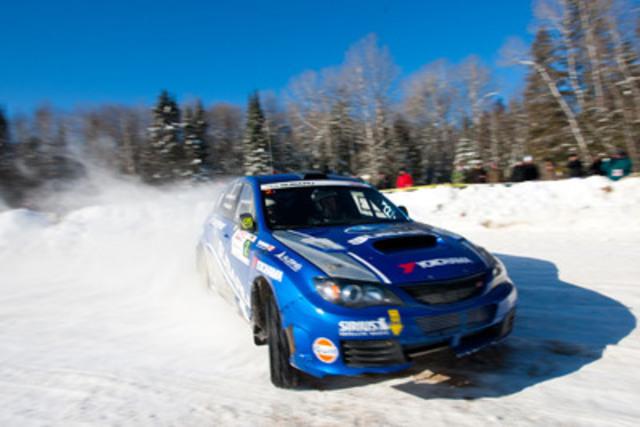 Subaru remporte quatre des cinq premières places au Rallye Perce-Neige (Groupe CNW/Subaru Canada Inc.)