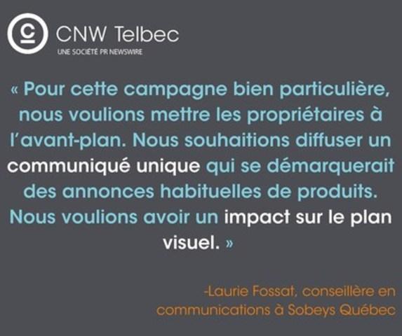 Laurie Fossat, conseillère en communications à Sobeys Québec (Groupe CNW/Groupe CNW Ltée)