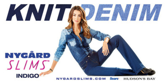 NYGÅRD Officially Launches the INDIGO KNIT DENIM Collection to the NYGÅRD SLIMS(TM) Line (CNW Group/NYGARD SLIMS)