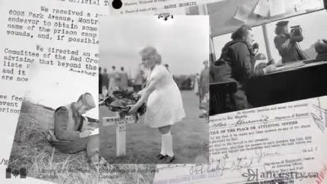 Video: B-roll: WWII Service Files of War Dead and Archival Images