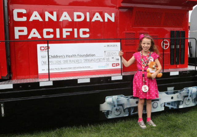 Rachael Wright, Child Ambassador, CP has Heart (CNW Group/Canadian Pacific)