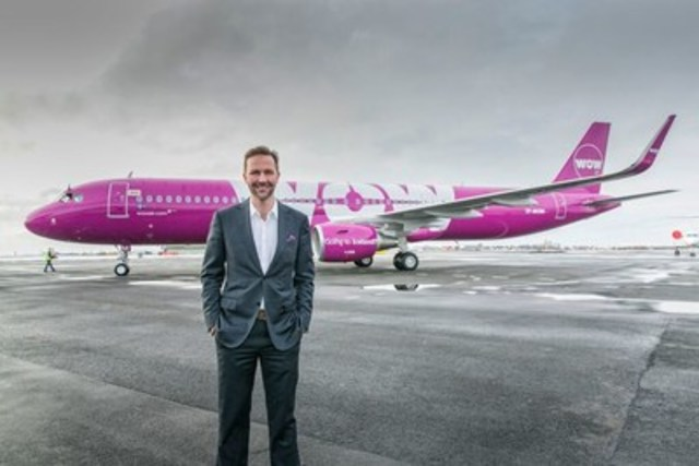 Skúli Mogensen, founder and CEO WOW air, Iceland' s only ultra low-cost airline, announced Thursday that the airline will begin service to Iceland from Toronto and Montréal in May 2016. Priced from just CAD $99 one-way, including taxes, tickets go on sale via www.wowair.ca Thursday, offering travellers the cheapest connection between Europe and Canada. (CNW Group/WOW air)