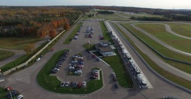 Aerial View AJAC CCOTY TestFest Oct.27 2015 (CNW Group/Automobile Journalists Association of Canada)