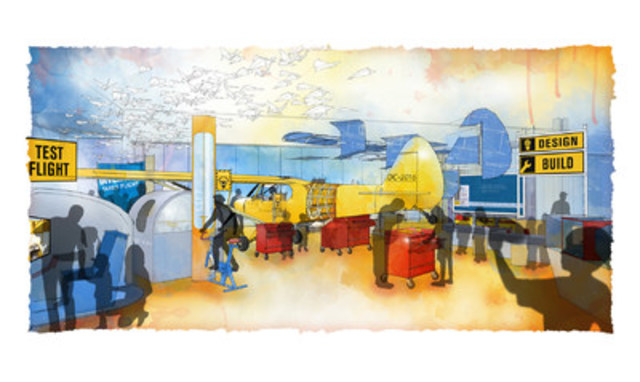 Image rendering of what will be the IMP Aerospace Gallery at the New Discovery Centre. This gallery features a ...