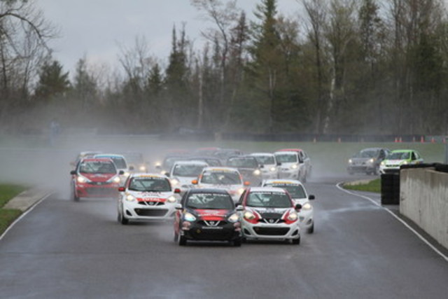 The 2016 Nissan Micra Cup launched in Ontario at Calabogie Motorsports Park this past weekend (CNW Group/Nissan Canada Inc.)