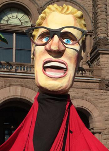Puppet of Ontario Premier Kathleen Wynne (CNW Group/Ontario Public Service Employees Union (OPSEU))