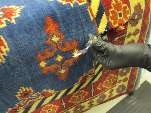 Fil ayant servi à tisser l'un des tapis (Groupe CNW/Gendarmerie royale du Canada)